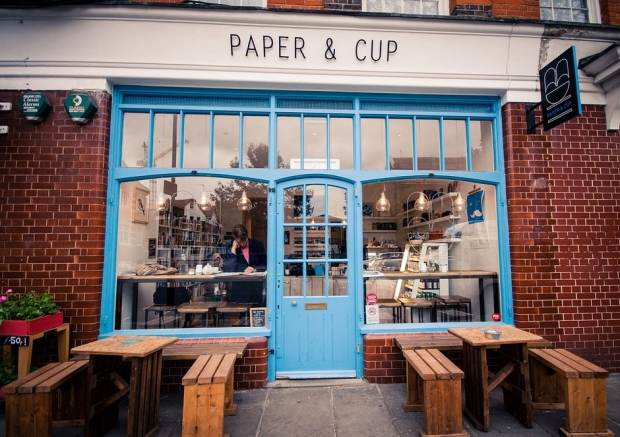 Paper and Cup outside