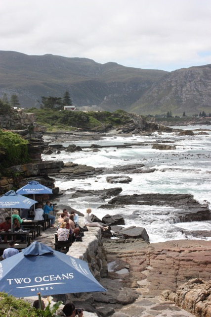 Restaurant at the waterside in Hermanus