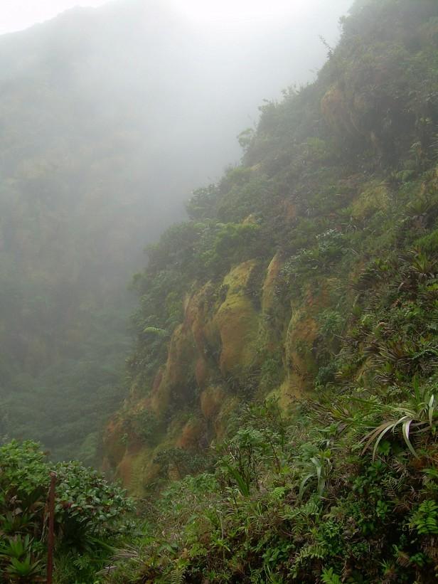 Vandring uppför la Soufriere